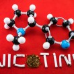 Постер, плакат: Nicotine molecular structure