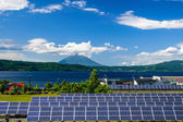 Solar power for cocept of sustainable green energy — Stock Photo