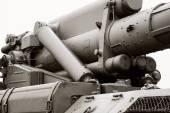 Mechanism of raising of an artillery gun — Foto de Stock