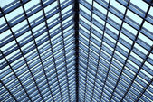Transparent glass ceiling — Stock Photo