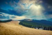 Carpathian autumn mountains — Stock Photo