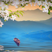Kwiat tle — Zdjęcie stockowe