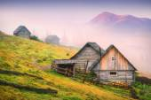 Houses in a Carpathian mountains — Stock Photo