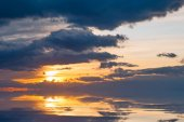 Sunset sky with clouds — Stock Photo