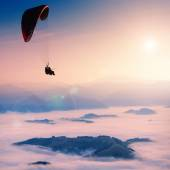 Paraglide in a morning sky — Stock Photo