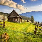 Mountain village in the Ukrainian Carpathians. — Stock Photo