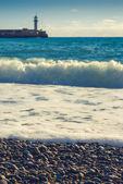 Stormy weather in Yalta  bay — Stock Photo