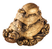 Gold feng-shui turtles — Stock Photo