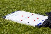 Football Soccer training tactic board — Stock Photo