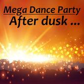 Open air dance party announce — Stock Vector