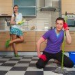 Man cleaning floor — Stock Photo #70284781