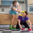 Man cleaning floor — Stock Photo #70284911