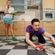 Man cleaning floor — Stock Photo #70285011