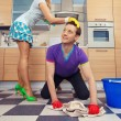 Man cleaning floor — Stock Photo #70291053