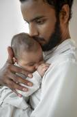 Young Father with Newborn Baby — Stock Photo