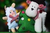 Toys near Christmas tree — Stock Photo