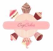 Cakes invitation card — Stock Vector
