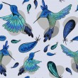 Seamless pattern with jungle birdies — Stockvektor  #63478289
