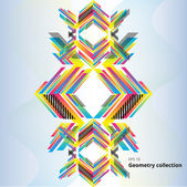 Stylish geometry colorful element — Vettoriale Stock
