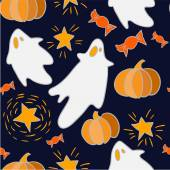 Pattern for Halloween with ghosts — Stock Vector