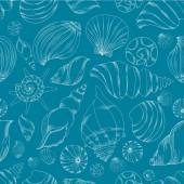 Seamless pattern with shells. — Vetor de Stock