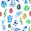 Easter watercolor pattern — Stock Vector #68473129