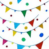 Colorful watercolor garlands — Stock Vector