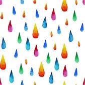Colorful watercolor raindrops — Stock Vector