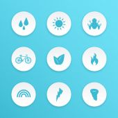 Ecology icons — Vector de stock