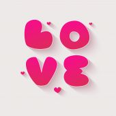 Valentines day card with heart.  — Stock Photo