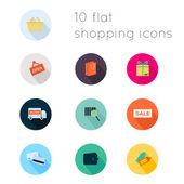 Modern flat icons  shopping theme. — Stock vektor