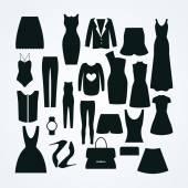 Clothes icon vector set — Stock Vector