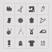 Sewing equipment  icons set — Stock Vector