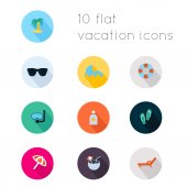 Icons  of vacation theme. — Stock Vector