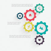 Cogwheel connection, teamwork — Stockvektor