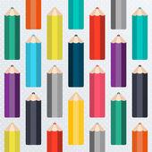 Skolan mönster med pennor — Stockvektor