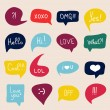 Speech bubbles with short messages — Stock Vector #65895473