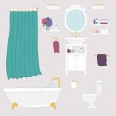 Bathroom and personal hygiene icons — Stock Vector