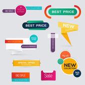 Big set of Sale Banners — Stock Vector