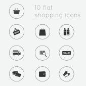 Flat icons collection of shopping theme — Vecteur