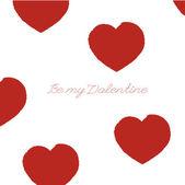 Alla hjärtans dag-kort med hjärta — Stockvektor