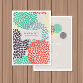 Colourful greeting card — Vettoriale Stock