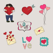Valentine's day collection — Stock Vector