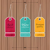 Collection of Sale Discount Vintage Banners — Stockvector
