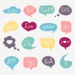 Questions speech bubbles set — Stock Vector #69998869