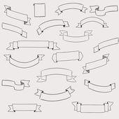 Uppsättning av design element banners band — Stockvektor