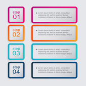 Colorful infographics for your business presentations — Stock Vector