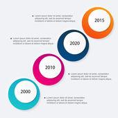 ビジネス プレゼンテーションのカラフルなインフォ グラフィック — ストックベクタ