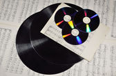 DVD and dusty long play record — Stock Photo