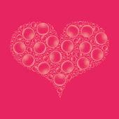 Water drop heart — Stock Photo